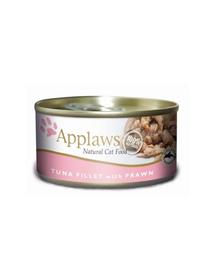 APPLAWS hrana umeda pentru pisici, ton si creveti  6 x 156 g