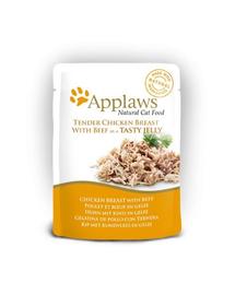 APPLAWS Hrană umedă cu piept de pui și vită în jeleu 70 g