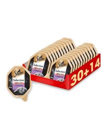 SHEBA Selection in Sauce hrana umeda pentru pisici, vitel in sos 44 x 85g (30 + 14 gratis)