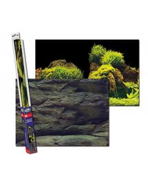 AQUA NOVA Fundal acvariu fata-verso, marime S, 60x30cm, roci / plante