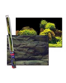 AQUA NOVA Fundal acvariu fata-verso, marime XL, 150x60cm, roci / plante