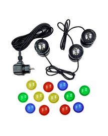 AQUA NOVA Lampa LED impermeabila 3x1,6W 12V, lentile colorate