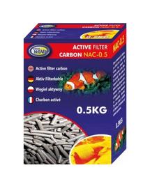 AQUA NOVA Cartus carbon activ pentru acvariu, 0,5 kg, NAC-0,5