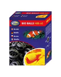 AQUA NOVA Bile BIO de filtrare pentru acvariu sau iaz, diametru 32 mm, 60 buc.