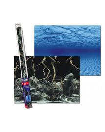 AQUA NOVA Fundal acvariu fata-verso, marime XL, 150x60cm, radacini / apa