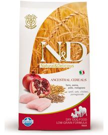 FARMINA N&D Low Grain Adult Small - Hrană uscată cu pui & rodie 2.5 kg