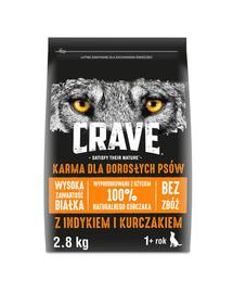 CRAVE Hrana uscata fara cereale cu curcan si pui pentru caini adulti 3 x 2,8 kg