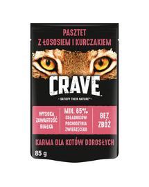 CRAVE hrana umeda fara cereale pentru pisici adulte, pate de somon si pui 24 x 85g