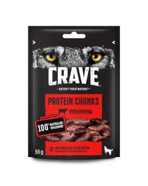 CRAVE Recompense fara cereale pentru caini, cu vita 6 x 55g