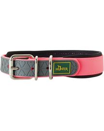 HUNTER Convenience Comfort Zgarda pentru caini, marimea M-L (55) 42-50/2,5cm roz neon