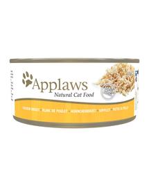 APPLAWS Hrană umedă pentru pisici cu piept de pui 156 g