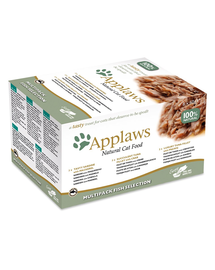 APPLAWS Cat Pot Multipack Fish Selection hrana umeda pentru pisici 32 x 60 g