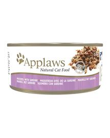 APPLAWS Cat hrană umedă pentru pisici cu macrou și sardine 156 g