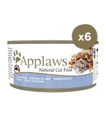 APPLAWS Hrana umeda pentru pisici, cu pești de ocean, 6 x 70 g