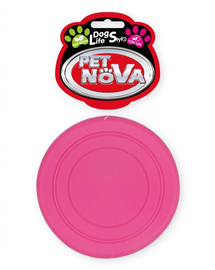 PET NOVA DOG LIFE STYLE Frisbee pentru caine 18cm, roz, aroma de menta