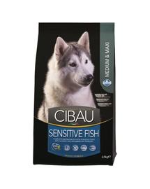 CIBAU Sensitive Fish Medium & Maxi Hrana uscata pentru cainii adulti de talie medie cu intolerante alimentare 2.5 kg