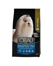 CIBAU Sensitive Mini Hrana uscata pentru cainii adulti de talie mica cu intolerante alimentare 2,5 kg Fish