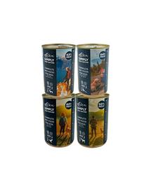 SIMPLY FROM NATURE Hrana umeda pentru caini Mix 4 arome 4 x 400g