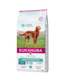 EUKANUBA Daily Care Adult Sensitive Digestion hrana uscata caini adulti cu sistem digestiv sensibil 12 kg