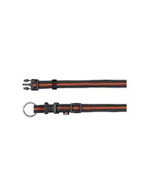 "TRIXIE Zgardă ""Fusion collar 40 – 65 cm / 25 mm negru - portocaliu"