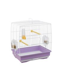 FERPLAST Rekord 1 Colivie pentru canari si alte pasari mici, violet/alb