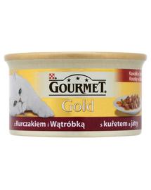 Gourmet Gold bucățele în sos în sos cu pui și ficat 85 g