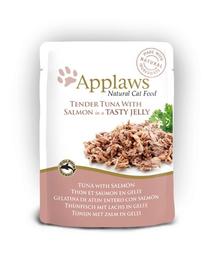 APPLAWS Hrană umedă cu ton și somon mărunțit în jeleu 70 g