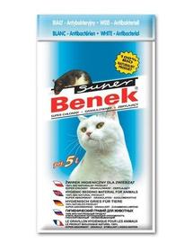 Benek Super White Asternut pentru litiera antibacterian 5 L