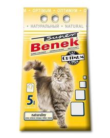 BENEK Super Optimum Natural nisip pentru litiera 5L