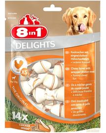 8IN1 Recompensă Delights Bones XS 14 buc.