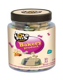 LOLO PETS Cookies pentru câini oase S mix 210 g