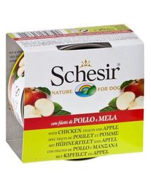 SCHESIR Fruit pui cu măr 150 g