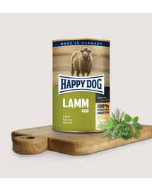 HAPPY DOG Pur Lamm cu miel 800 g