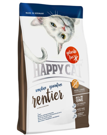 HAPPY CAT Sensitive Grainfree Ren, Vită și Cartofi 300 g