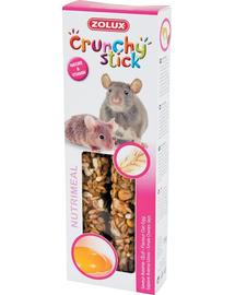 ZOLUX Crunchy Stick pentru șobolani și șoareci - ovăz / ou 115 g