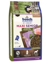 BOSCH Maxi Senior pasăre și orez 1 kg