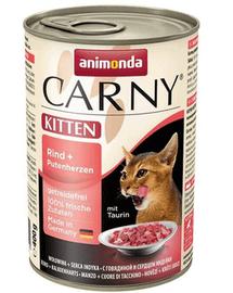 ANIMONDA Carny Kitten vită și inimi curcan 400 g
