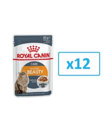 Royal Canin Intense Beauty Care Adult hrana umeda in sos pisica pentru piele si blana sanatoase, 12 x 85 g