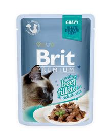 BRIT Premium Cat Fillets in Gravy vită 85 g