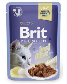 BRIT Premium Cat Fillets in Jelly vită 85 g