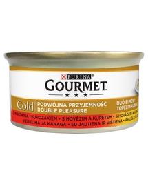 GOURMET Gold Vită și Pui 85 g