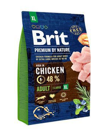 BRIT Premium By Nature Adult Hrana uscata pentru cainii adulti de talie mare 3 kg