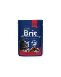 BRIT Premium Cat Adult vită și mazăre 100 g