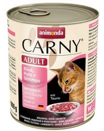 ANIMONDA Carny Adult Vită, Curcan și Creveți 800 g