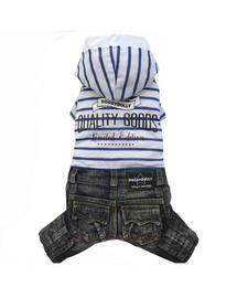 DOGGY DOLLY Set blugi/tricou cu glugă, XL 33-35 cm/51-53 cm