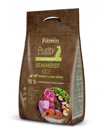FITMIN Dog Purity Mâncare semi-umedă cu iepure, miel și orez 4 kg