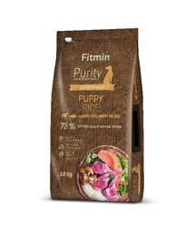 FITMIN Dog Purity rice puppy lamb & salmon 12 kg