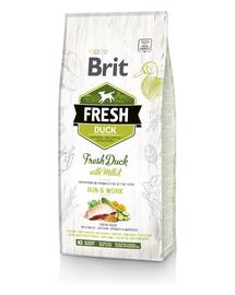 BRIT Fresh Active Run&Work Hrană uscată cu rață și mei 12 kg