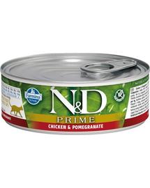 N&D Hrana umeda pentru pisici, cu pui si rodie, 80 g