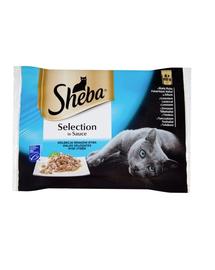 SHEBA Selection in Sauce mix de pește 4 x 85 g